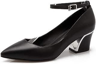 BalaMasa Womens Comfort Fashion Dress Urethane Pumps Shoes APL11107