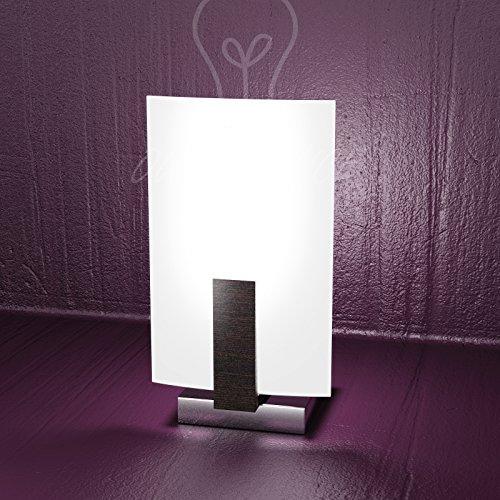 Lámpara de mesa Abat Jour Top Light modelo 1019/P-W wengué diseño moderno salón dormitorio dormitorio niños salón