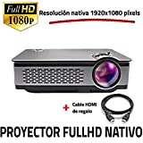 Proyector Full HD Nativo 1080P, UNICVIEW FHD900 (Actualizado 2019), Proyectores Maxima luminosidad Portátil LED Cine en casa 1920x1080 Real,HDMI, USB,Compatible PS4,Xbox,Switch, resolucion fullhd