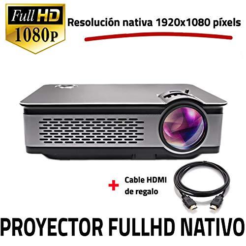 Full HD 1080P native Projektor, UNICVIEW FHD900 Beamer Neu 2019, Maximale Helligkeit Projektoren Tragbare LED-Heimkino 1920x1080 Real, HDMI, USB, kompatibles PS4, XBOX, Switch, FullHd-Auflösung