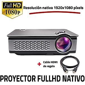 Proyector Full HD Nativo 1080P, UNICVIEW FHD900 (Actualizado 2019), Proyectores Maxima luminosidad Portátil LED Cine en casa 1920x1080 Real,HDMI, USB,Compatible PS4,Xbox,Switch, resolucion fullhd