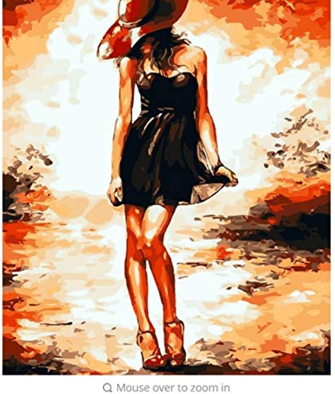 LIWEIXKY Hauptdekorationschönheit Bild-Malen Sie Auf Leinwand DIY Digitales Ölgemälde Malen Sie Nach Zahlen, Die Farben Zeichnen - Rahmenlos - 40x50cm B07PR58W6P | Billiger als der Preis