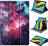 HoYiXi Custodia per Samsung Galaxy Tab A7 10.4-inch 360 Gradi Rotable Custodia Tri-fold Smart Cover per Samsung Galaxy Tab A7 10.4-inch 2020 T500/T505 - galassia