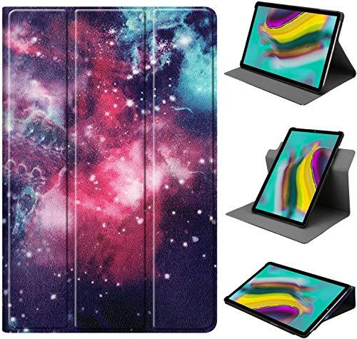 HoYiXi Funda de Soporte Giratorio para Samsung Galaxy Tab A7 10.4-Inch Rotación de 360 Grados Funda Smart Cover para Samsung Galaxy Tab A7 10.4 2020 T500/T505 - Galaxia