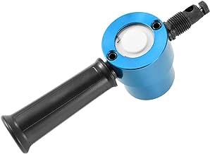 Baugger Herramienta de Corte de Metal Nibbler - Cortador de Chapa de Doble Cabezal Accesorio de Taladro Ajustable de 360 Grados Accesorios para Herramientas Eléctricas Herramientas de Corte - Azul