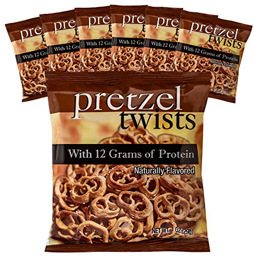 Weight Loss Systems Protein Pretzel Twists, 12g Protein, Low Calorie, Low Fat, Low Carb, High Fiber, Kosher, KETO Diet Friendly, Ideal Protein Compatible, 7 Single Serving Bags