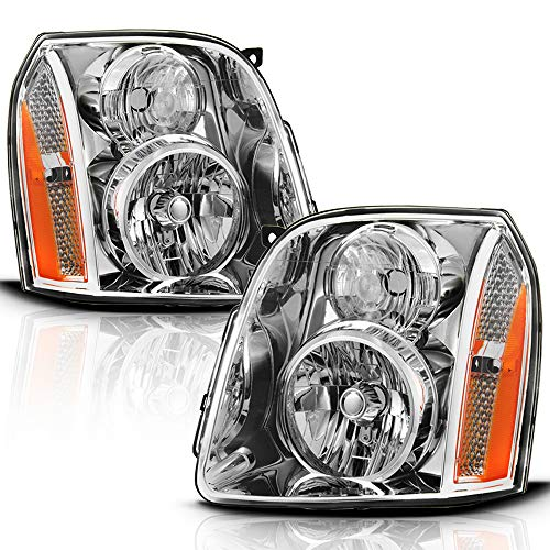 ACANII - For 2007-2014 GMC Yukon XL1500 2500 SUV [Denali Style] Headlights Headlamps Assembly Replacement Set Left+Right