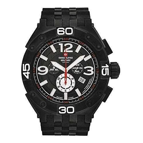 Swiss Alpine Military Herren Uhr Chrono 7032.9877SAM Silikon