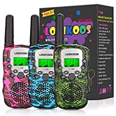 ❥ Perfect Gift for Children: Perfect creative electronic walkie talkie gift for 3-12 year old boys, teen girls gifts, kids birthday gifts. Great for Christmas, Halloween, birthday. fit indoor and outdoor activities, such as outdoor games, spring outi...
