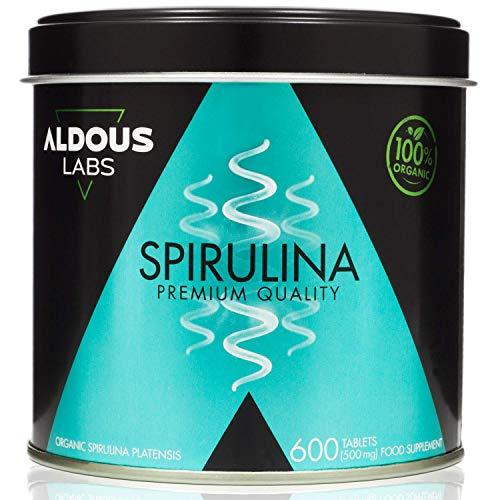 Espirulina Ecológica Premium para 18 Meses | 600 comprimidos de 500mg con 99% BIO...