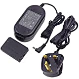 ACK-E12 AC Power Adapter DR-E12 DC Coupler Charger Kit Replacement for Canon EOS M, EOS M2, EOS M10, EOS M50, EOS M100 Mirrorless Digital Cameras