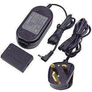 ACK-E12 Adaptador de corriente CA DR-E12 DC Coupler Kit de reemplazo para cámaras digitales sin espejo Canon EOS M, EOS M2, EOS M10, EOS M50, EOS M100