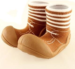 ベビーシューズ Baby feet ベビーフィート ラバー底ソックス FORMAL (12.5cm , Formal BROWN ブラウン )