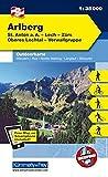Arlberg, St. Anton a. A., Lech, Zürs, Oberes Lechtal, Verwallgruppe: Nr. 03, Outdoorkarte Österreich, 1:35 000, Freemap on Smartphone included (Kümmerly+Frey Outdoorkarten Österreich)
