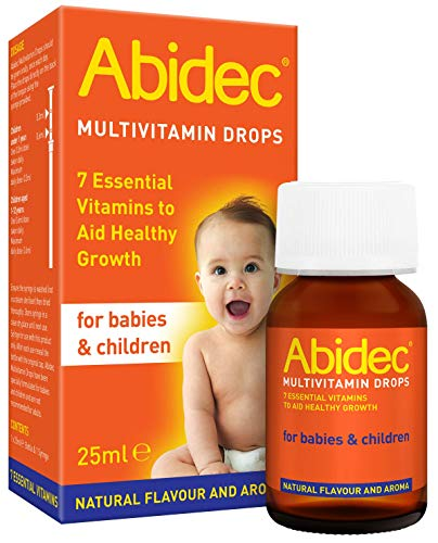 Abidec Kid and Baby Multivitamin Drops – Aids Healthy Growth - Contains Vitamin D, C and A – Suitable from Birth - 25 ml