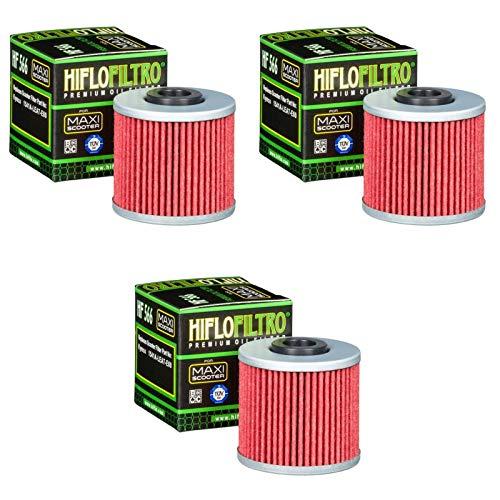 3x Filtro de aceite Kymco Superdink 300 i 09-14 Hiflo HF566