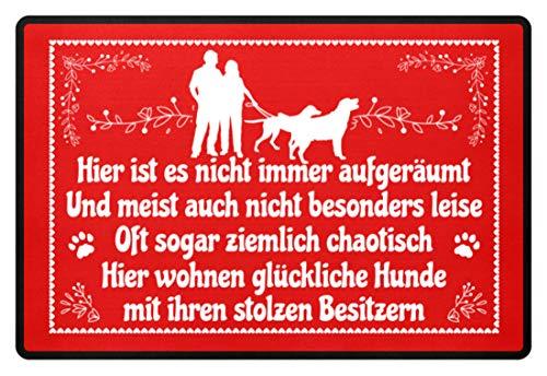 Shirtee Hier wohnen 2 perros felices con sus orgullosos propietarios perro padres...