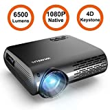 Projector, WiMiUS P20 Native 1080P LED Projector 6500 Lumen Video Projector...