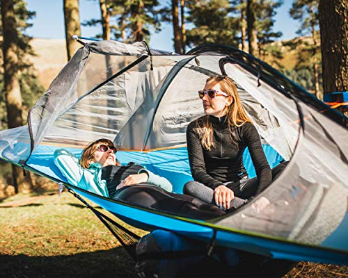 Tentsile Flite Plus Tree Tent (2020 Model) - 2 Person Ultralight Backpacking Portable Tree House Tent - 4 Season, Lightweight, Couples Camping – Rainfly, Heavy Duty Straps, Stuff Sack/Dry Bag included