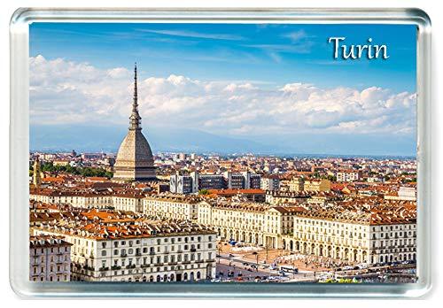 J107 Turin Jumbo Imán para Nevera Italy Travel Fridge Magnet