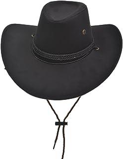 48e70ffd215fb Yosang Adult Western Suede Hat Cowboy Outdoorsman Hat Travelling Summer Cap