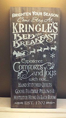 Norma Lily Kringles Bett Breakfast Schild Weihnachten Decor Einzugs Geschenk Hostess Bed und Breakfast Decor iindoor Oder Outdoor Versiegelungsmittel Wahl