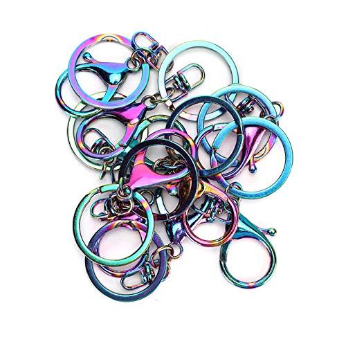 Deryang Chaveiros, clipe de chaveiro resistente à corrosão, para chaveiros, cintos para animais de estimação, suprimentos para joias