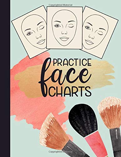 Practice Face Charts: Makeup Artists Portfolio Book of Blank Face Charts