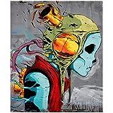 Cartel de impresión de imagen de Alien Graffiti abstracto pintura de pared arte vivo decoración de p...