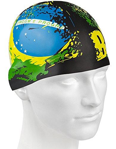 Brasile-Cuffia in Silicone, Multicolore, Taglia Unica