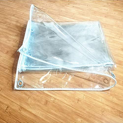 Niuniu verdikte kunststof tarps regendoek balkon transparant regen regen curtain PVC zacht glas wind en koude doek (2 x 3 M, 0,5 mm dik)