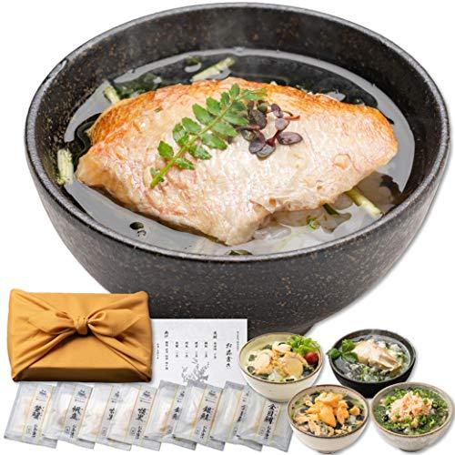 高級 お茶漬け ギフトセット 雅 (みやび) 8食( のどぐろ 金目鯛 銀鮭 ずわい蟹 帆立 )