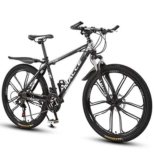 WGYDREAM Mountainbike Bici Bicicletta MTB Mountain Bike, 26 Pollici Donne/Uomini MTB Biciclette Leggero Acciaio al Carbonio Telaio 21/24/27 Costi con Sospensione Anteriore MTB Mountain Bike