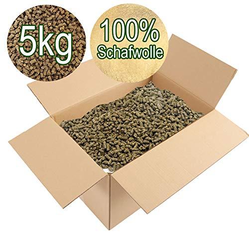Garten Champ Nr. 1 Schafwolldünger in 5kg Großpackung/Schafwollpellets aus 100% Schafwolle | Biologischer Pflanzendünger
