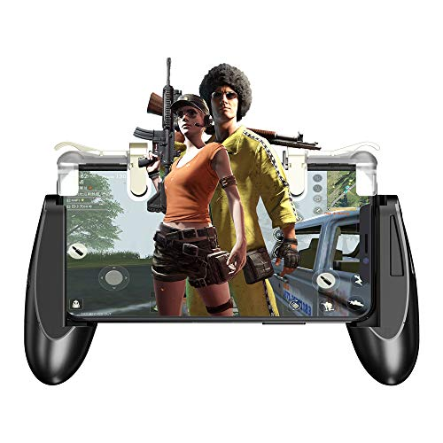 """GameSir F2 Mobile Game Controller, L1R1 Mobile Game Trigger Joystick for 4.5-6.4"""" Phone, Mobile Controller Grip Case for PUBG/Knives Out/Rules of Survival"""