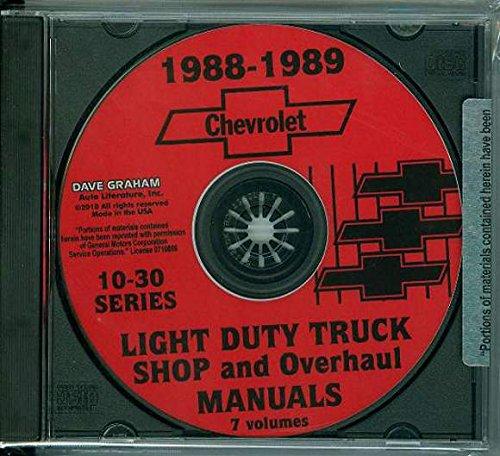 STEP-BY-STEP 1988 1989 CHEVROLET 10-30 PICKUP & TRUCK REPAIR SHOP & SERVICE MANUAL CD C, K, G & P Blazer, Suburban, Van