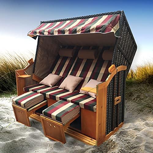 BRAST Strandkorb Ostsee 3-Sitzer 160cm...