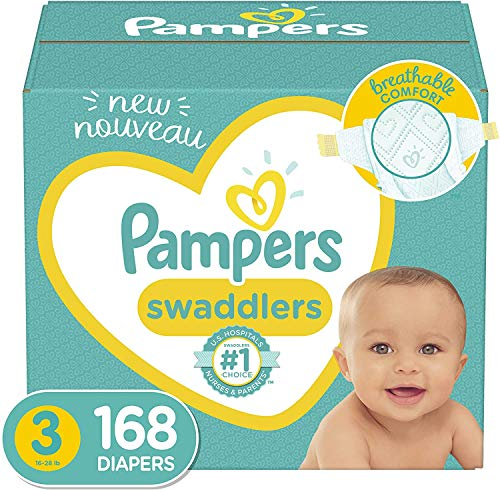 Baby Diapers Size 3, 168 Count - Pampers...