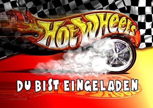 TV-24 Hot Wheels Einladungskarten 6er Set inkl. 6 Umschläge T4