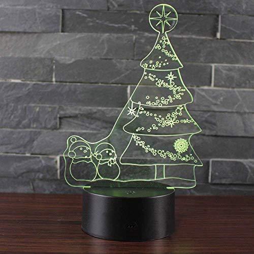 Luz de noche, Regalos de Navidad Lámpara LED - Touch 7 Color-Negro Base al lado de la Lámpara de mesa regalos de Navidad para novia