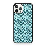 Elegante cubierta azul majestuosa diseño de leopardo manchado animal cubierta cubierta cubierta de la caja del teléfono (modelo de teléfono: Samsung Galaxy S8 Plus)