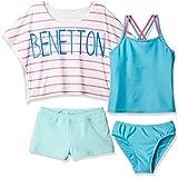 (ベネトン)Benetton Benettonタンキニ4点SET/カバーアップ・パンツ付127635 127635 PK ピンク 140