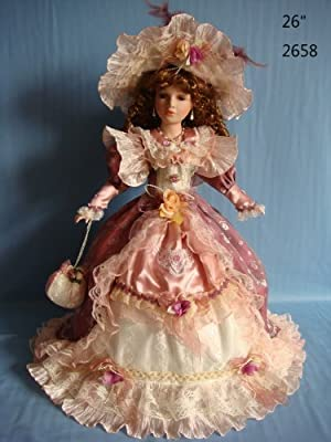"Jmisa 26"" Umbrella Porcelain Dolls Victoria Style"
