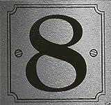 eCobbler Silver Stick On Door Numbers - Number 8