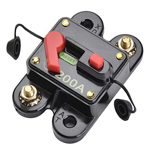 Qiorange 12V/200A Automatische Sicherung Schalter für Auto Kfz LKW Boot (Type K 1 Stück)