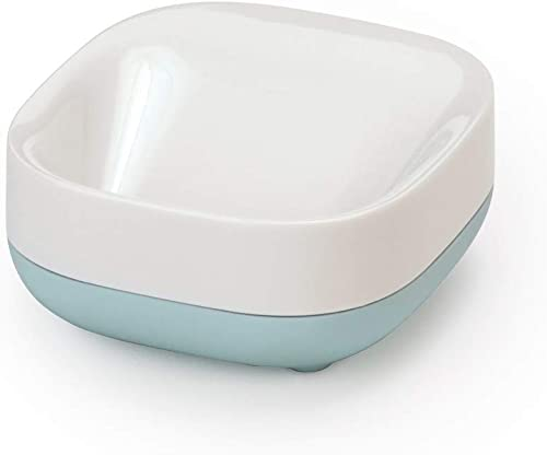 JOSEPH JOSEPH Slim Compact Soap Dish, White & Pale Blue, 1 Piece