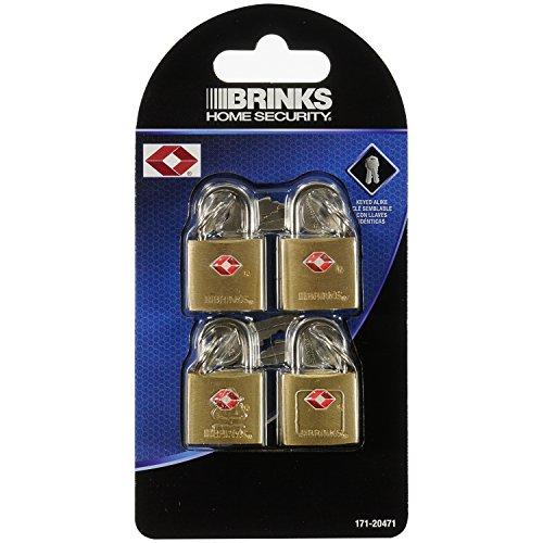 Brinks 171-20471 Solid Brass Keyed Lock (4-Pack), 22Mm