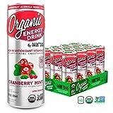 Organic Energy Drink by Dark Dog - Cranberry Mint 12 Oz (12 Count) Powerful Organic Caffeine From...