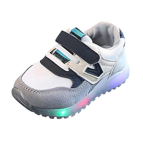 Zapatillas Unisex Niños K-youth Zapatos LED Niños Niñas Zapatillas Niño Zapatillas para Bebés Zapatos de Bebé Zapatillas de Deporte Antideslizante Zapatillas con Luces para Niñas Niños (27 EU, Gris)