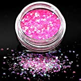 KHKJ Violet Holographic Sequins Glitter Shimmer Diamond 12 Colors Eye Shiny Skin Highlighter Face...